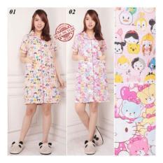 Shining Collection Baju Tidur Malika Daster Midi Dress Import-01 Peach
