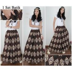 Shining Collection Celana Kulot Rok Kulli Jumbo Batik-Hitam