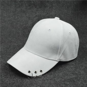 SHININGSTAR Korea Fashion Style warna solid ayat yang sama topi pin topi topi (Papan lampu