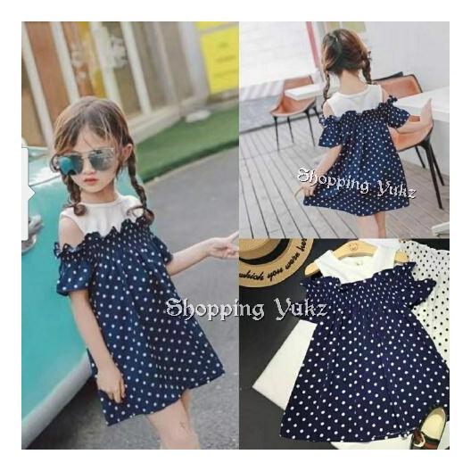 Shopping Yukz Dress Anak Cewek SABRINA DOT / Dress Anak Perempuan / Baju Terusan Anak Perempuan / Gaun Anak / Baju Anak Cewek / Gaun Pesta Anak / Dress Pesta Anak