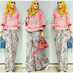 Shopping Yukz Setelan Kulot Wanita Cornelia - PEACH ( Tanpa Pasmina ) / Stelan Muslimah / Baju Muslim / Stelan Kulot