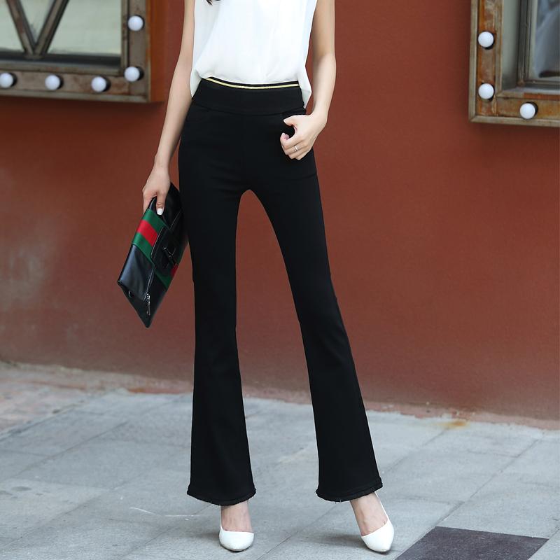 Flash Sale Shuilu Korea Fashion Style hitam tebal pinggang tinggi celana celana speaker (2013 hitam