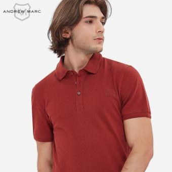 Gambar Slim bernapas pria kemeja POLO (Merah anggur)