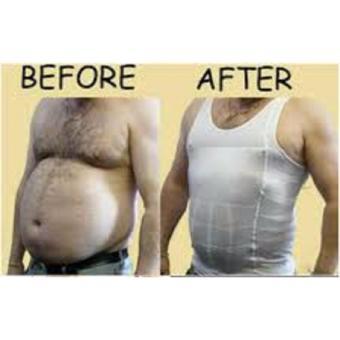 Slim N Lift Body Shaping for Men [HITAM] / Baju Singlet / BajuPelangsing Pria / Baju Perut Buncit [HITAM] - 4