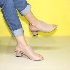 Sling Back Strap Sepatu Heels Wanita Marlee BB-27 Moca