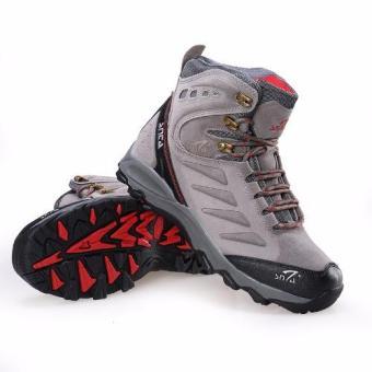 Harga Terendah SNTA Sepatu Pria Hiking Semi Waterproof SNTA Outdoor 488 - AbuMerah Harga Penawaran
