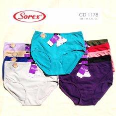 Sorex - 6 Pcs Celana Dalam Wanita Type 1178 Size M, L, EL, QL - Warna Random