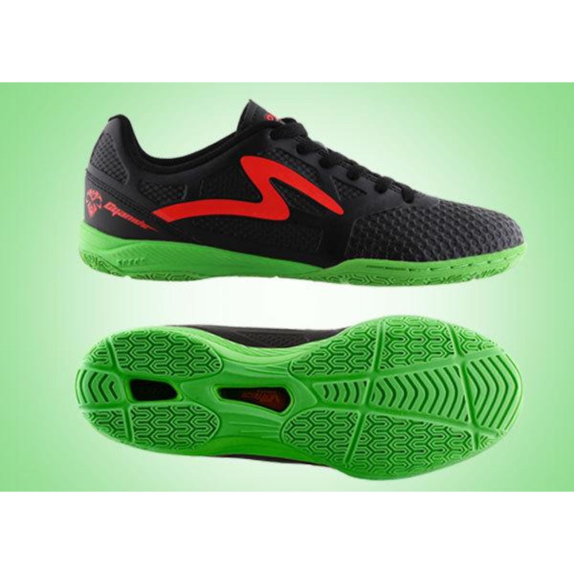 ... Specs Cyanide IN Black Green | Sepatu Futsal ...