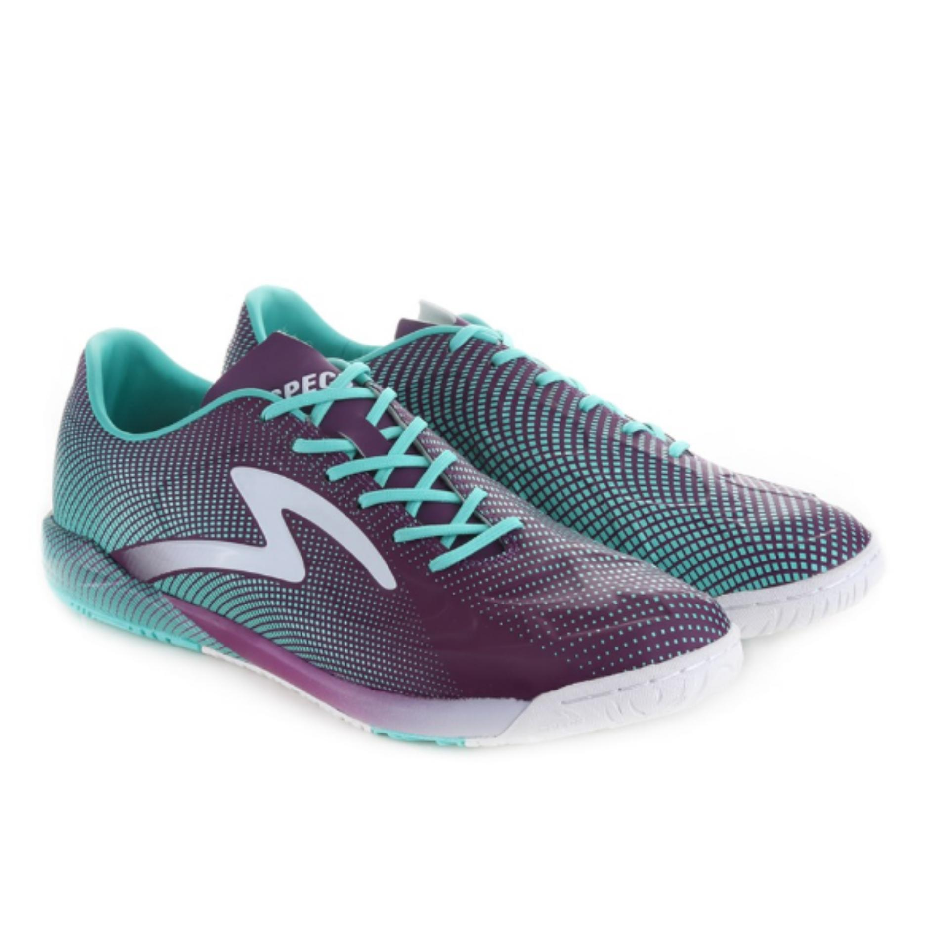 ... Specs Swervo Thunderbolt In Dark Currant Riviera White | Sepatu Futsal ...