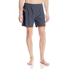 Speedo Mens Hydrosprinter with Compression Swimsuit Shorts Workout & Swim Trunks, Granite, - intl