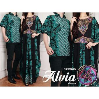 SR Collection Couple Batik Muslim Pria Wanita Alvianasyah - Tosca