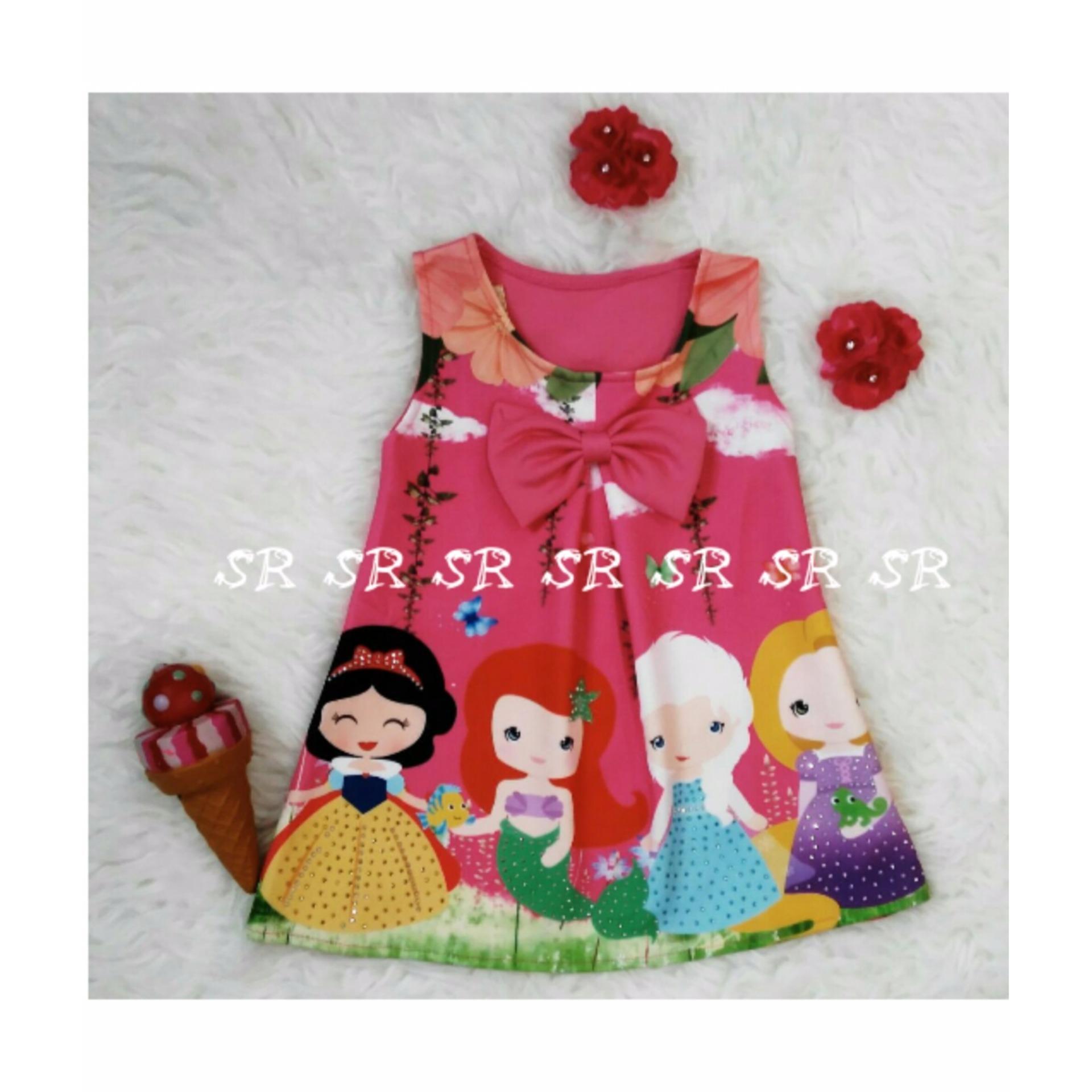 SR Collection Pakaian Anak Perempuan Dress Tanpa Lengan 0105 - Size 1 2 3