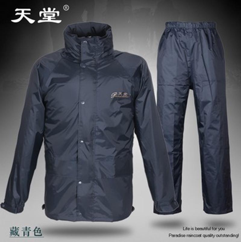 Flash Sale Surga luar ruangan lembut dan tebal dewasa ponco jas hujan (Angkatan Laut (