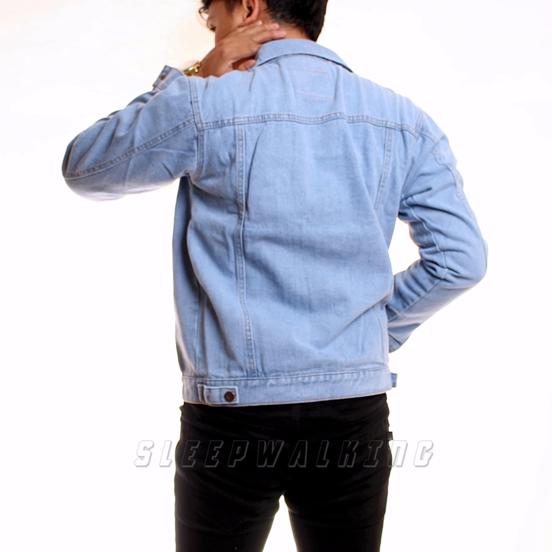 Price Checker Sw Jaket Jeans Pria Best Seller Bioblitz Diskon Penjualan Hoodie Black Grey