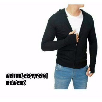 sweater rajut pria -ARIEL COTTON BLACK-rajut tribal