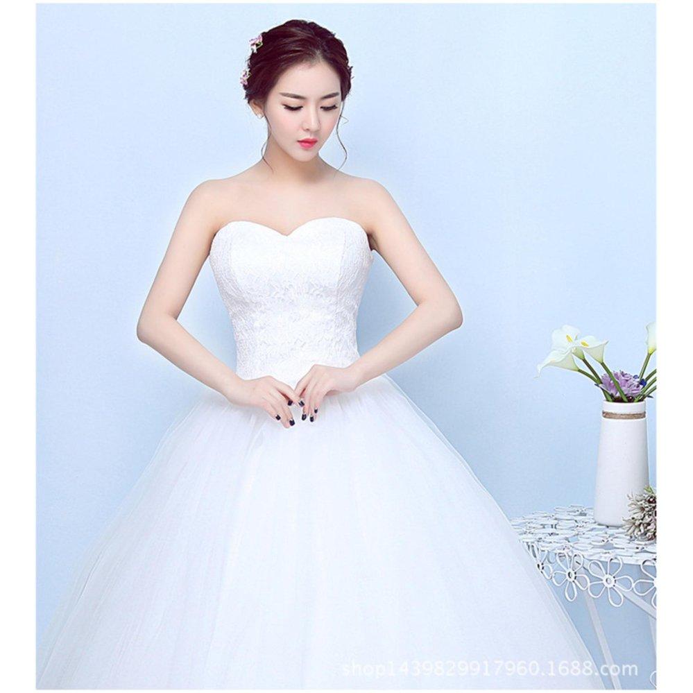 Price Checker Sweet Wedding Dress Lace Flower Beading Crystal ...