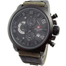 Swiss Army Casual Men's D47H280SA6015MHA Chronograph Jam Tangan Pria - Hijau