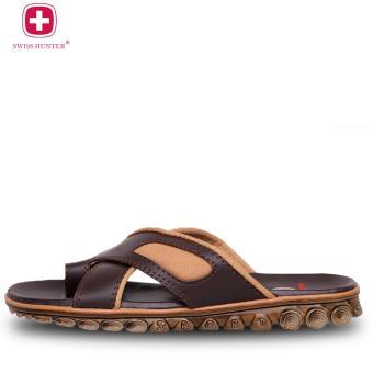Detail Gambar Swiss hunter tactical sandal pria - Brown Terbaru