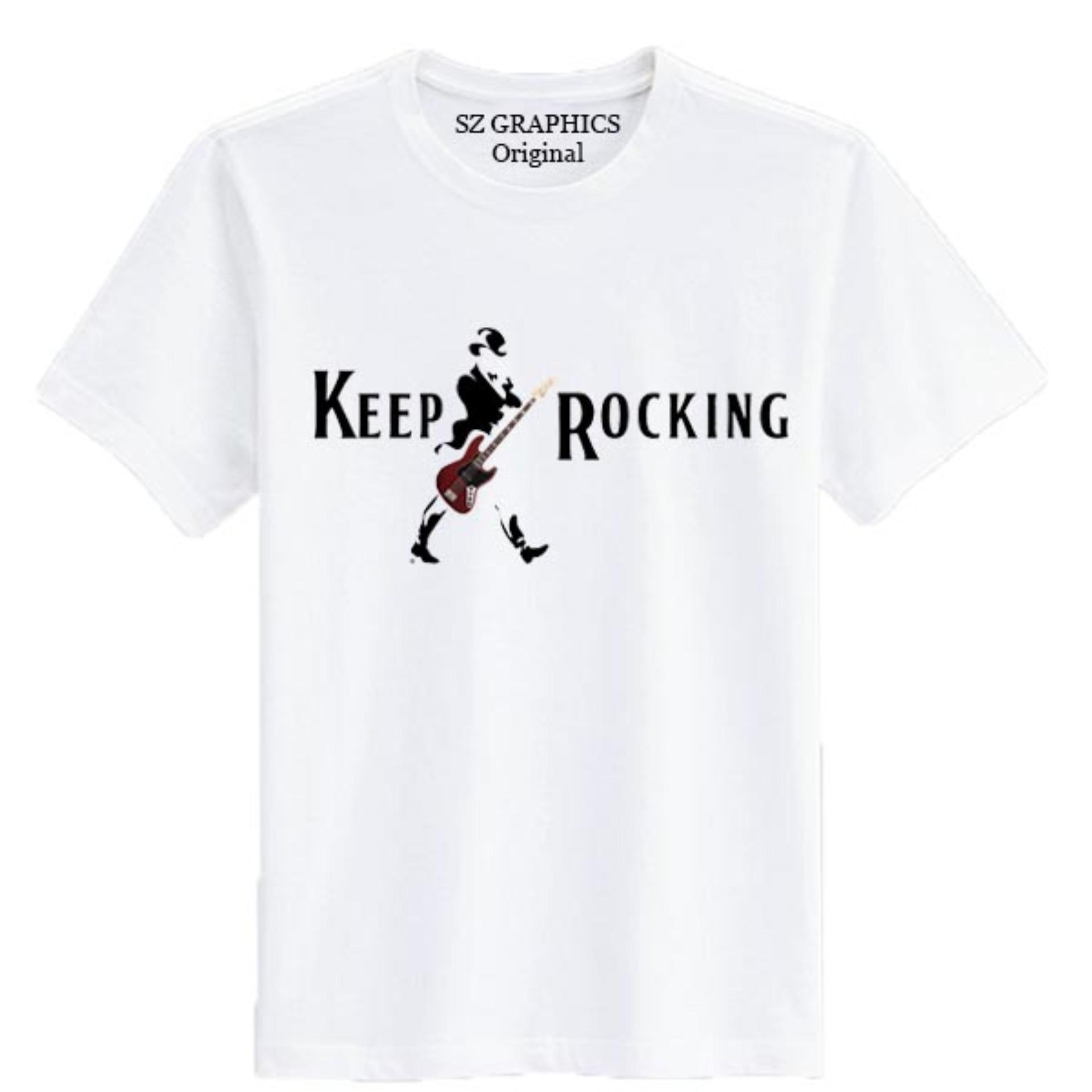 Bandingkan Simpan Sz Graphics Keep Rocking T Shirt Pria Wanita Kaos 4f031e2d70