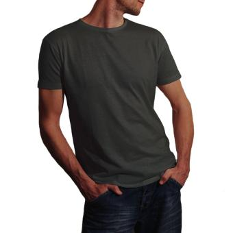 T-shirt Kaos Polos O-Neck Pria Katun Bambu Keren - Abu-abu - 2