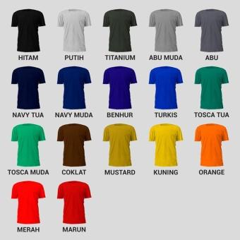 T-shirt Kaos Polos O-Neck Pria Katun Bambu Keren - Abu-abu - 4