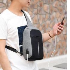 Tas Anti Maling -Sling bag pria wanita USB CHARGER - IMPOR