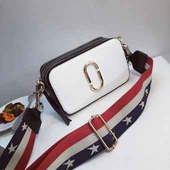 Tas Kamera Tas Bahu Tas Selempang Wanita (Putih dengan hitam)