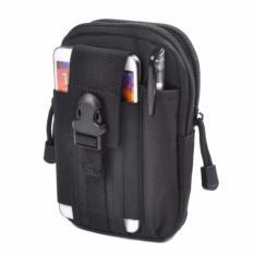 Tas Pinggang Pria Army Tactical Molle Import Waist Small Bag Military - Hitam