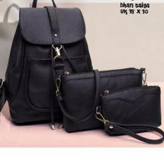 Tas Backpack Wanita Genta new style Black ColourIDR65000. Rp 65.000