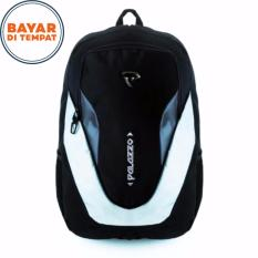 Tas Ransel Palazzo Outdoor Ukuran 30 Liter Material Polyester Serat Nylon Waterproof - Black Grey