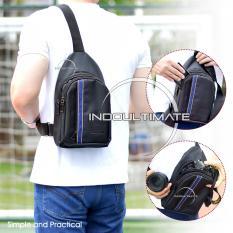 TAS SELEMPANG Pria Kualitas Import/Unisex/Tas Punggung Slempang/Sling Bag FS TB-9868 B- Black