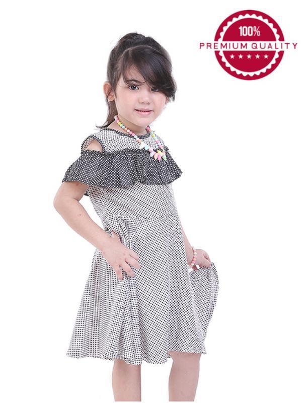 TDLR - Dress Anak Perempuan Hitam Kombinasi - TSA 3217