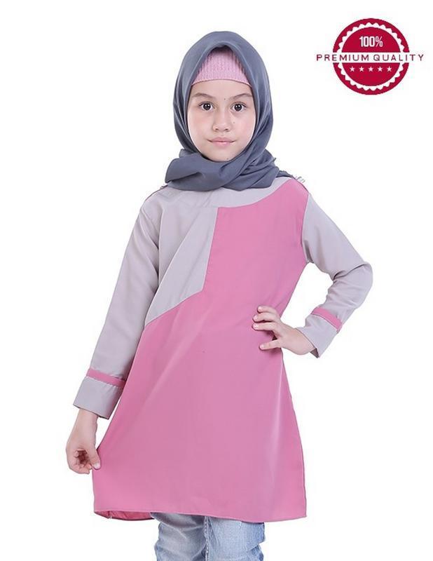 TDLR - Dress Anak Perempuan Pink Kombinasi - TGG 3240