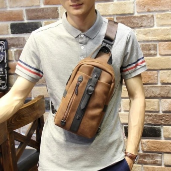 The new trend of Korean leisure chest pack Crazy Horse male package man SATCHEL BAG BAG chest tide - intl - 3