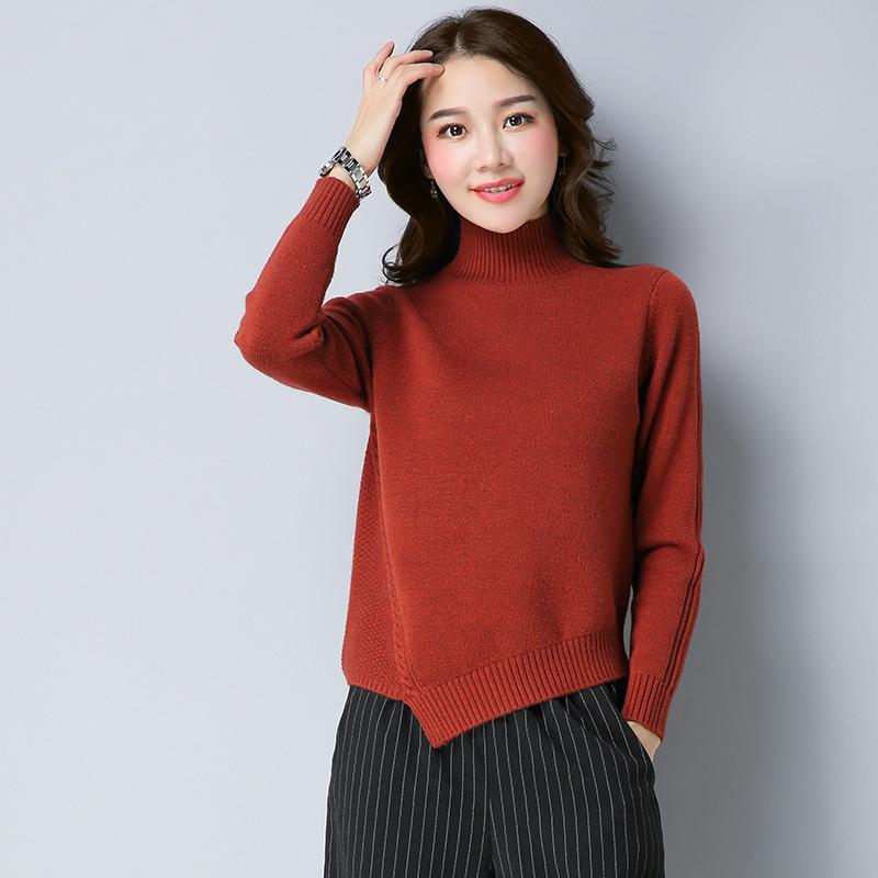 ... Rok Gaun Hitam Source · Cheap online Tidak teratur lengan panjang kerah tinggi sweater musim gugur sweater baru Warna karamel