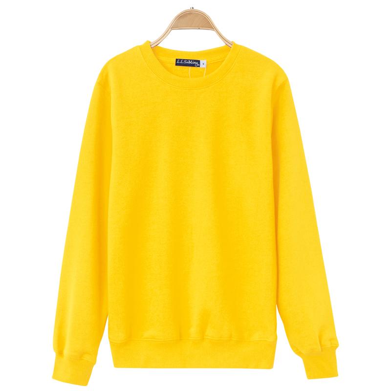 Flash Sale Tide merek Jepang musim gugur dan musim dingin musim gugur angin pria dan wanita pullover kemeja (Kuning)