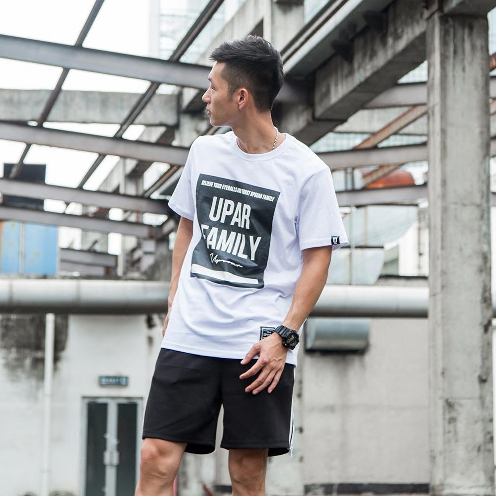 Tide merek katun Jepang remaja huruf t-shirt (Abu-abu)