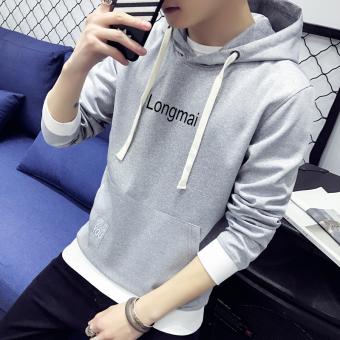 Pencari Harga Tide merek Korea Fashion Style laki-laki berkerudung siswa pullover sweater hoodie (