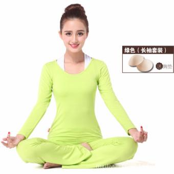 Jual Tipis aerobik kebugaran pakaian tari persegi pakaian yoga (Hijau muda  lengan panjang) (Hijau muda lengan panjang) Murah 028c5537e6