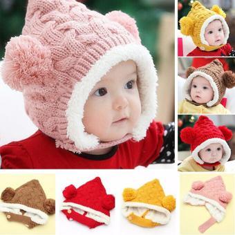 Topi hangat wol anak bayi musim dingin/winter hat cap wool kids baby