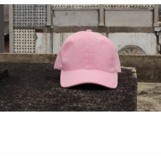 Topi Pria Wanita Baseball Golf Katun Unisex - Mudah Diatur - Baby Pink
