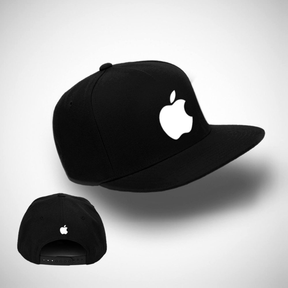 TOPI SNAPBACK APPLE BLACK PREMIUM