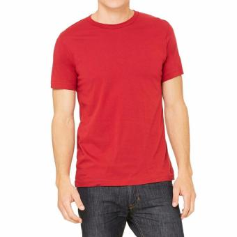 ... Tradeold T shirt O neck Kaos Polos Lengan Pendek merah