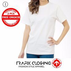 TRAFIX Kaos Polos Wanita Premium - T-Shirt Plain UNISEX Putih