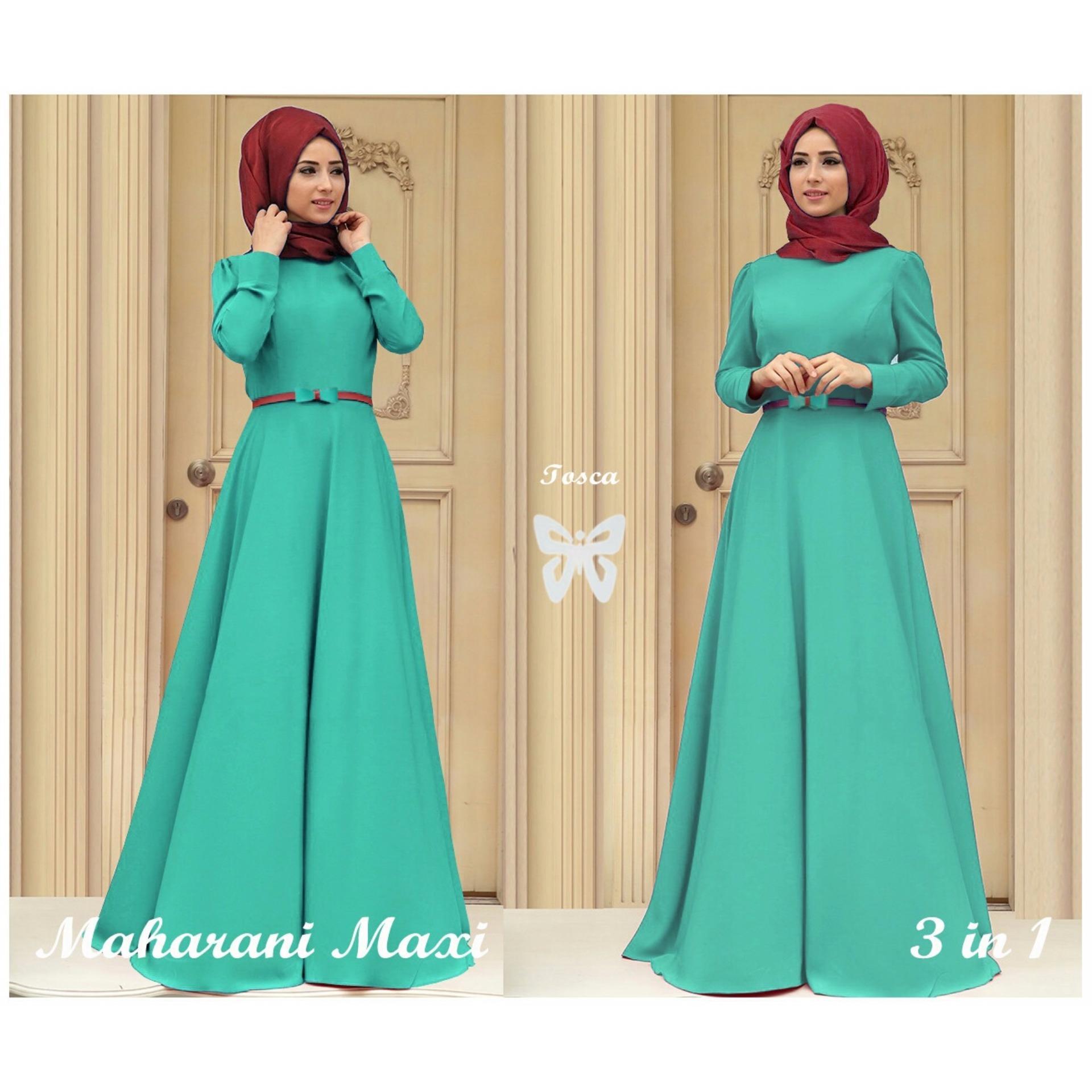 Bandingkan Toko Trend Baju Hijab Maxi Pashmina Uk L Hijau Flash Sale