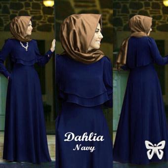 Trend Baju - Maxi Dahlia Uk L - Navy