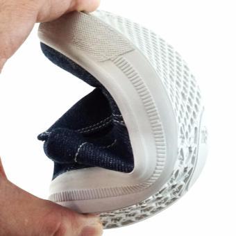 TrendiShoes Sepatu Anak Laki Slip On Denim Elegan 01SLAG - Navy - 3