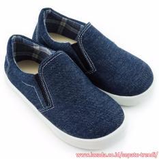 TrendiShoes Sepatu Anak Laki Slip On Denim Elegan 01SLAG - Navy