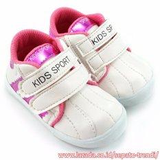TrendiShoes Sepatu Anak Perempuan Kids Sport DSAG - Putih Fucshia