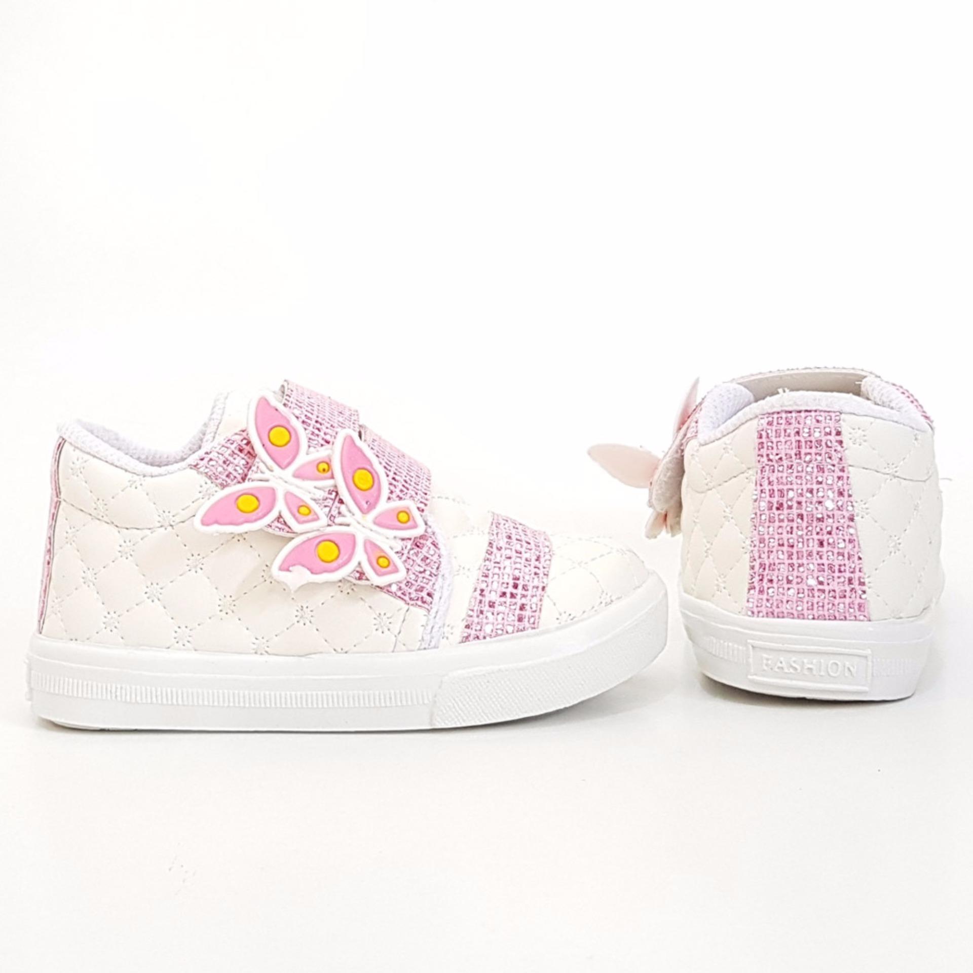 TrendiShoes Sepatu Anak Perempuan KPWJ - Putih Pink .